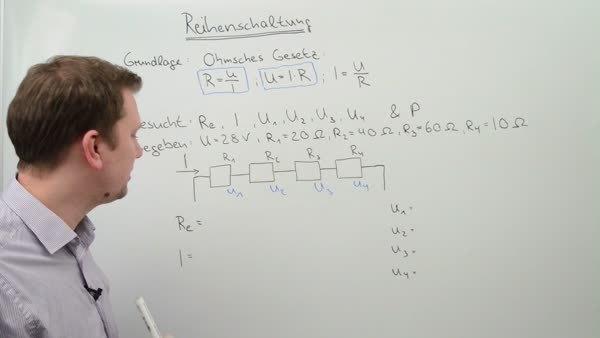 Reihenschaltung von Widerständen in Gleichstromkreisen
