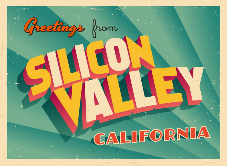 Silicon-Valley Grußkarte